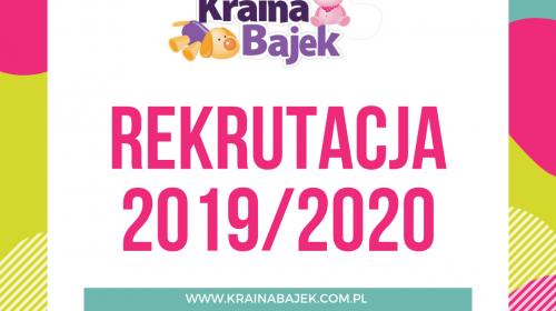 Rekrutacja na rok szkolny 2019/2020