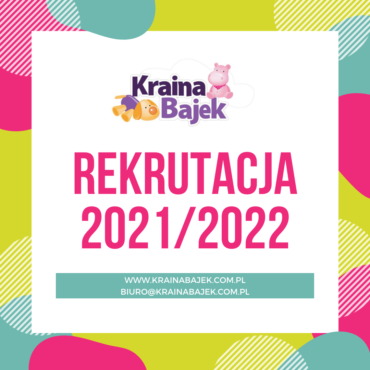 Rekrutacja do naszego przedszkola na rok szkolny 2021/2022